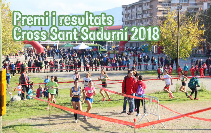Ja hi son disponibles els premis i resultats del Cross Sant Sadurní '18